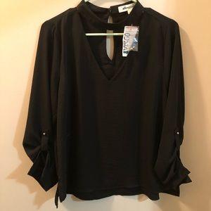 Black boutique blouse